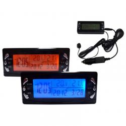 Termometr Samochodowy Zegarek Zegar Zew Wew Alarm